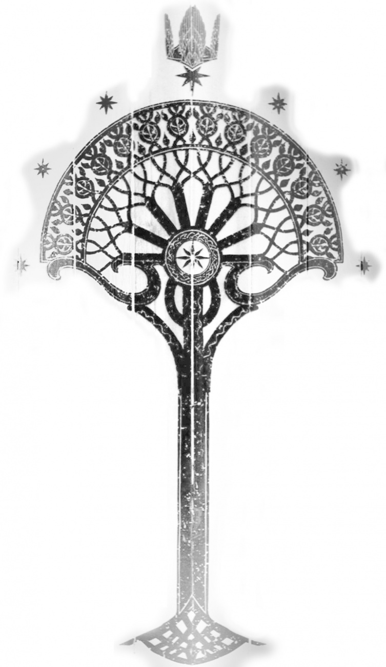 Reproduction du bouclier du gondor dalg for Pochoir arbre