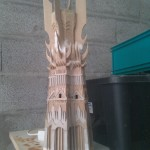 fabrication maquette tour orthanc