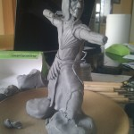 fabrication figurine elfe guerrier