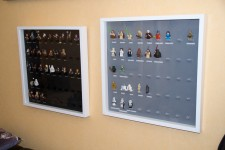 cadre figurines lego star wars et lord of the rings