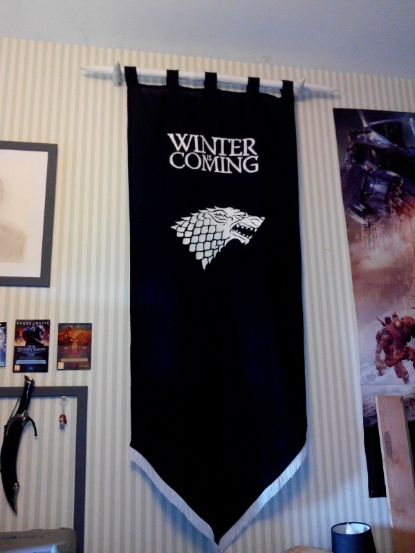 drapeau stark game of thrones